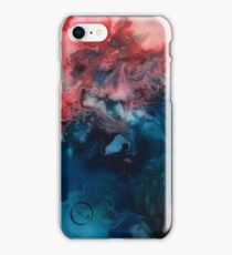 Acrylic poured marble iPhone Case/Skin