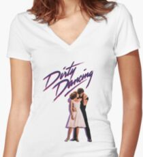 Dirty Dancing - Movie Women's Fitted V-Neck T-Shirt
