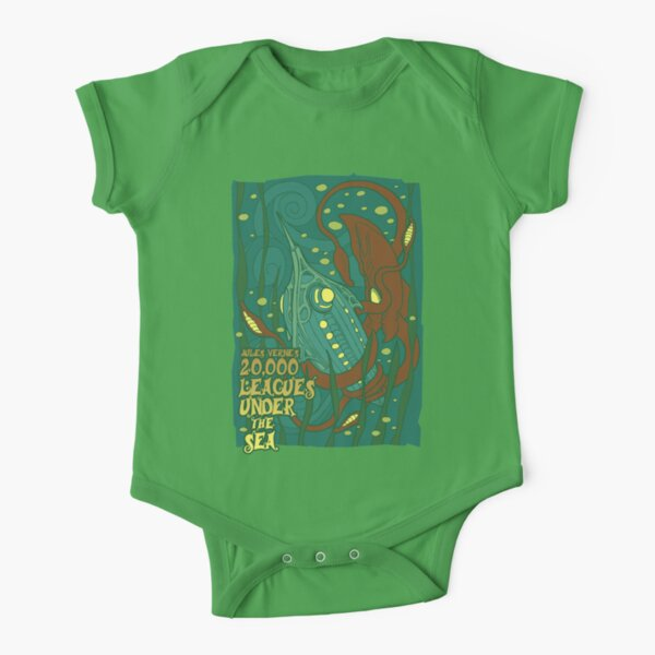 20,000 Leagues Under the Sea Short Sleeve Baby One-Piece