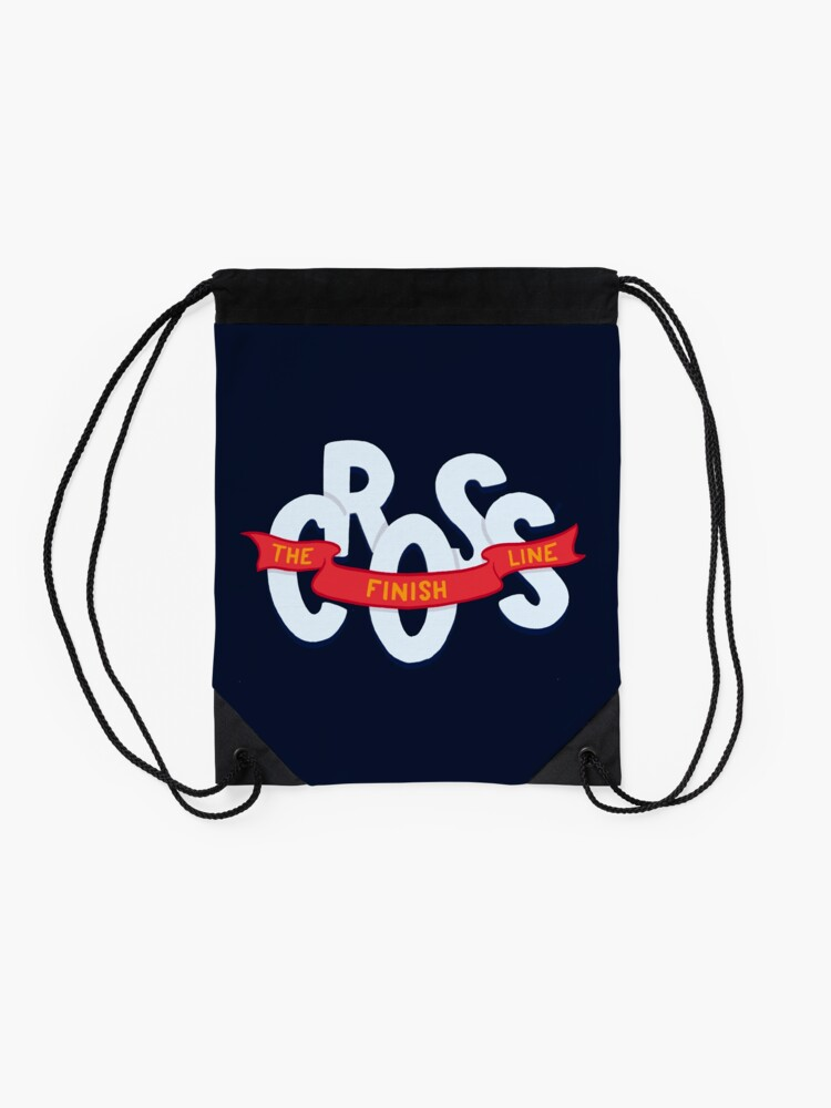 Alternate view of Cross the finish line Drawstring Bag