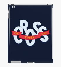 Cross the finish line iPad Case/Skin