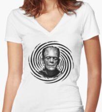 Classic Frankenstein Women's Fitted V-Neck T-Shirt