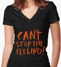 Justin Timberlake - Can't stop the feeling Women's Fitted V-Neck T-Shirt