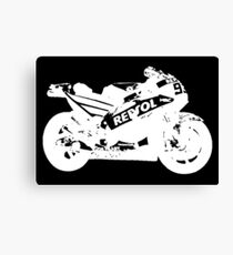Honda RC213V 2017 MotoGP Bike (White) Canvas Print