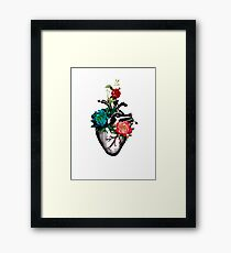 Heart of Flowers Framed Print