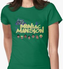 Gaming [C64] -  Maniac Mansion Womens Fitted T-Shirt