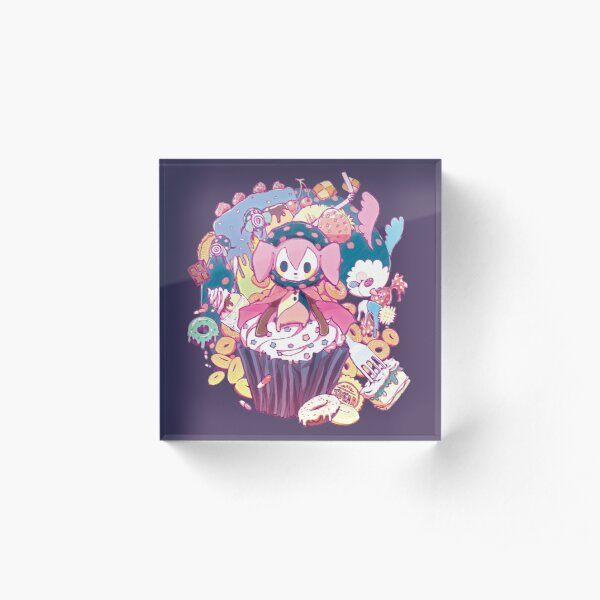 Puella Magi Magica Madoka - Charlotte and Friends Acrylic Block