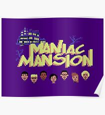 Gaming [C64] -  Maniac Mansion Poster