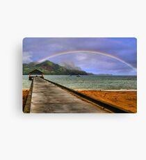 Hanalei Bay Pier Canvas Print