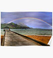 Hanalei Bay Pier Poster