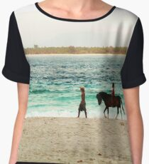Beach Rider - Lombok, Indonesia Women's Chiffon Top