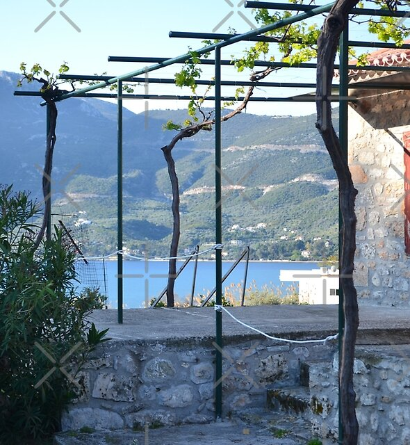 VIEW FROM SMALL THEATER IN EPIDAVROS by Teffyjo