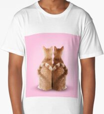 Ginger cats with love heart tails Long T-Shirt