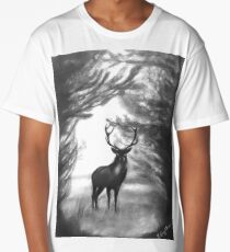 Stag In forest Long T-Shirt