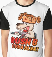 Rush B Cyka Blyat (CS:GO) Graphic T-Shirt