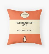 Penguin Classics Fahrenheit 451 Throw Pillow