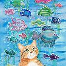 Aqua Cat by Andreea Dumez