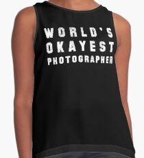 World's Okayest Photographer Contrast Tank