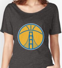 Warriors The Bridge - Blue on Gold Women's Relaxed Fit T-Shirt
