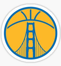 Warriors The Bridge - Blue on Gold Sticker