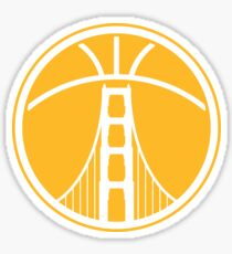 Warriors The Bridge - White on Gold Sticker