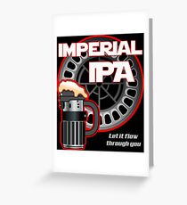 Dark Side Imperial IPA Greeting Card