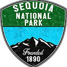 SEQUOIA NATIONAL PARK CALIFORNIA REDWOOD MOUNTAINS HIKE HIKING CAMP CAMPING by MyHandmadeSigns