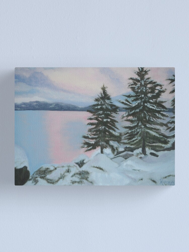 Alternate view of Winter Solstice Sunset Painting Canvas Print