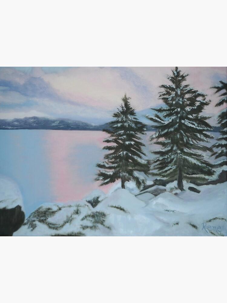 Winter Solstice Sunset Painting by irenebernhardt
