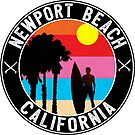 Surfer NEWPORT BEACH California Surfing Surfboard Ocean Beach Vacation by MyHandmadeSigns