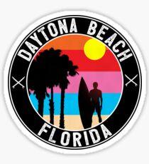 Surfing DAYTONA BEACH FLORIDA Surf Surfer Surfboard Waves Ocean Beach Vacation 2 Sticker