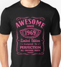 Awesome Since 1969 Birthday Gift Idea Unisex T-Shirt