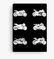 MotoGp 2017 Bikes (White) Canvas Print