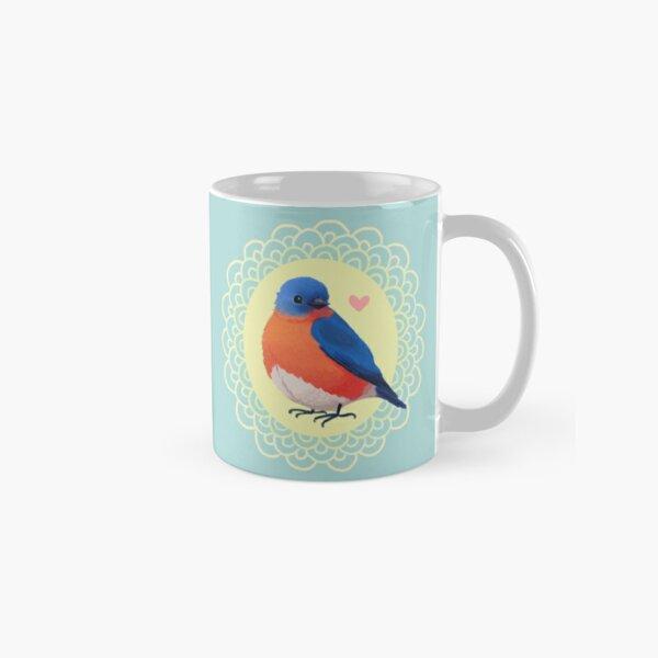 Sweet Bluebird in Blue Classic Mug