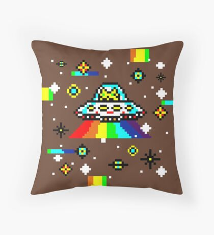Cats invaders Throw Pillow