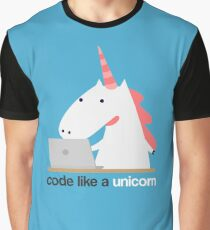 Code like a Unicorn Shirt - Funny Tee for Developers Graphic T-Shirt