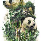 «El gran panda de China Nature Surrealism Painting» de barrettbiggers