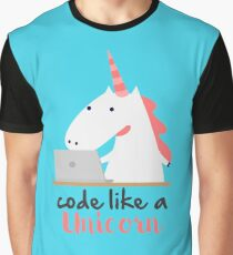 Code like a Unicorn Tee - Funny Shirt for Developers Graphic T-Shirt