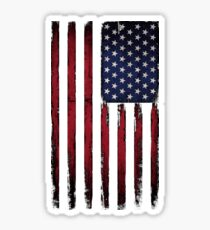 Patriotic American Flag stars and stripes Color Grunge Sticker