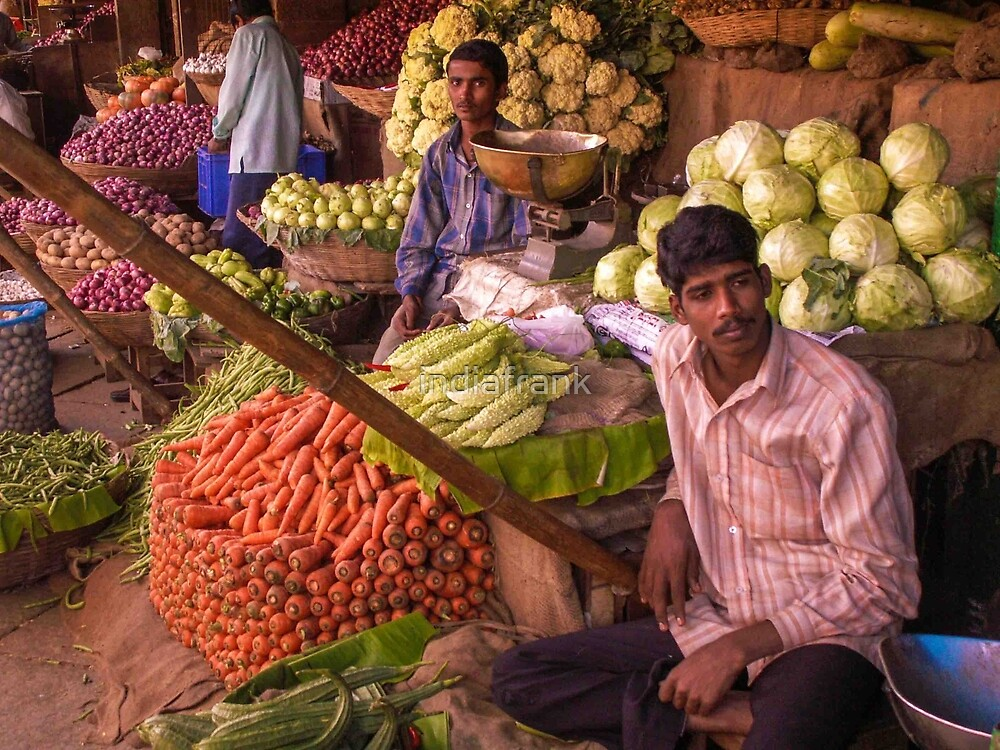 Vegetables for sale by indiafrank