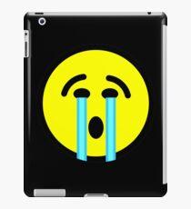 cry cry cry emoticon iPad Case/Skin
