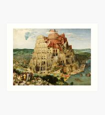 Pieter Bruegel the Elder - The Tower of Babel (1563) Art Print
