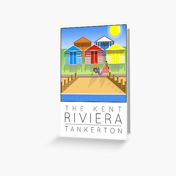 2017 Poster Kent Riviera Tankerton Greeting Card