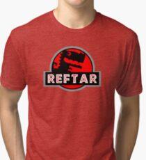 R E F T A R - GENIUS DINO Tri-blend T-Shirt