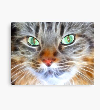 Fractual Feline Canvas Print