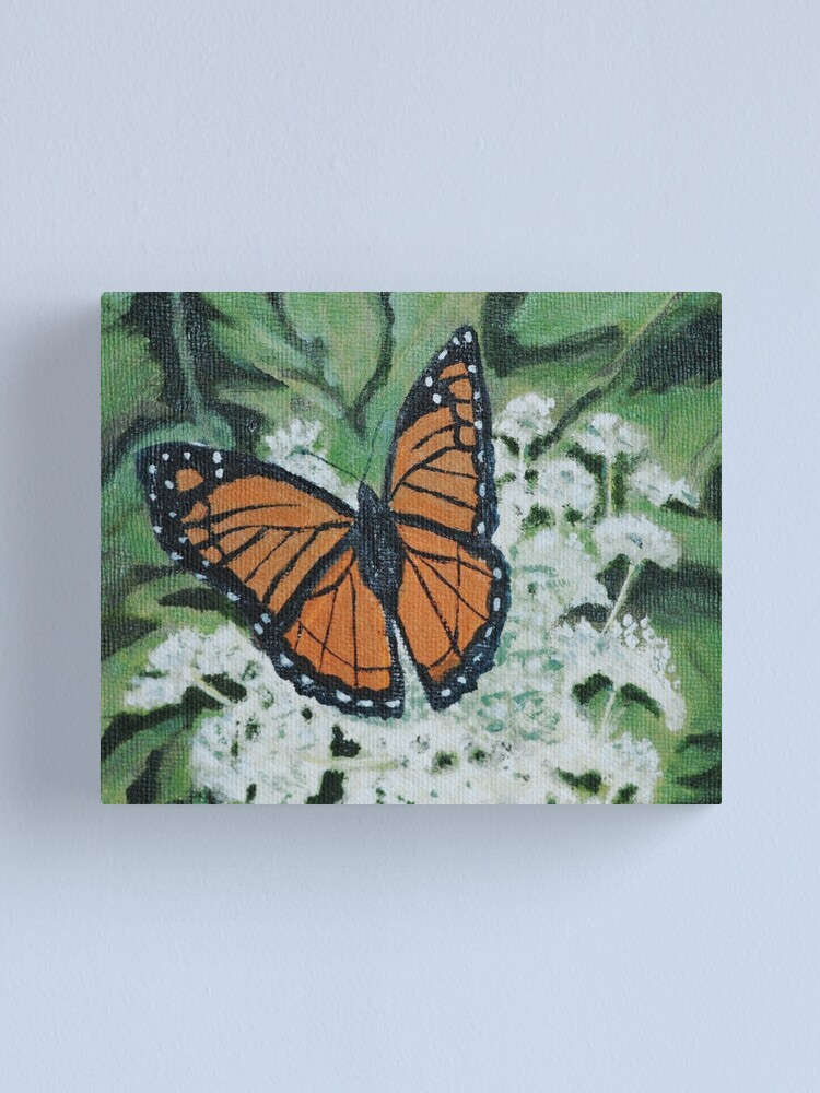 Alternate view of Monarch Butterfly on Queen Anne's Lace Canvas Print