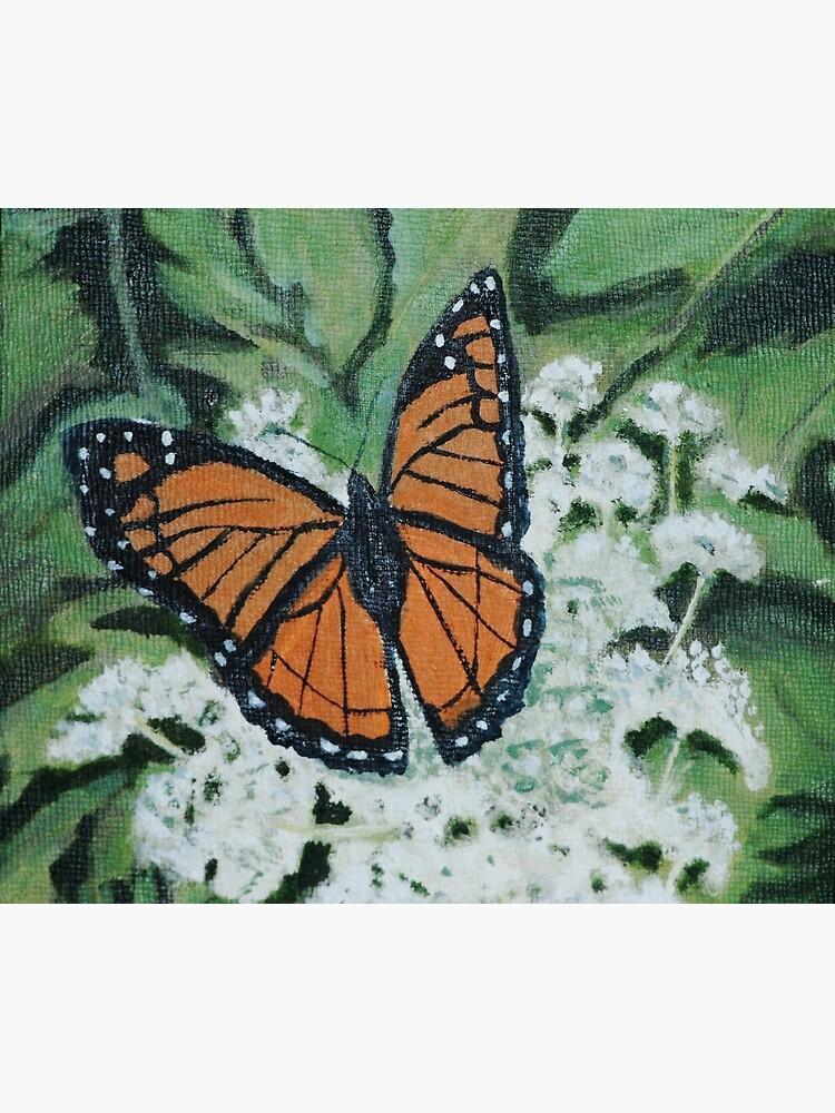 Monarch Butterfly on Queen Anne's Lace by irenebernhardt