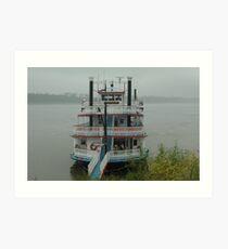 Riverboat Art Print