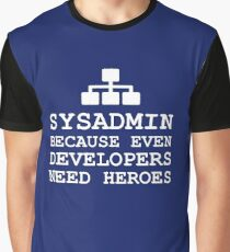 sysadmin heroes black edition Graphic T-Shirt