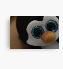 Adorable baby penguin Canvas Print